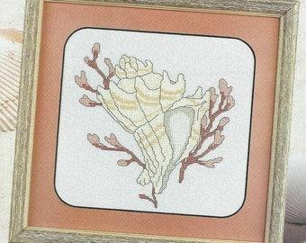 Rare -Neptune's Treasure Sea Shell WINDJAMMER Beach Ocean  Cross Stitch Chart Pattern