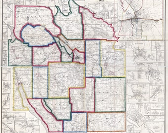 1859 Map of Onondaga County New York