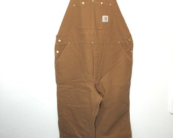 90's deadstock carhartt overall quilt lined 100% cotton made in usa mens size 44