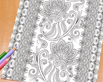 Adult Colouring Pages And Hand Drawn Prints By DreamStateStudio