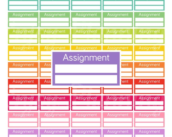printable assignment planner