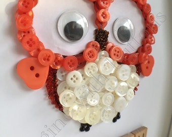 Owl Button Frame