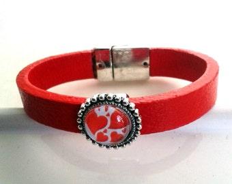 Heart of hearts - BSV1 leather bracelet