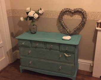 Revamped Classic Stag chest of drawers
