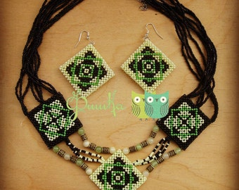 "Beaded Jewelry Set ""Roxolana"""