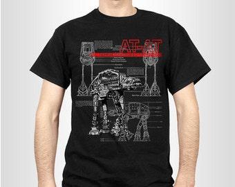 AT-AT Blueprints T-shirt, Male