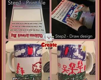 Children's Artwork Mug