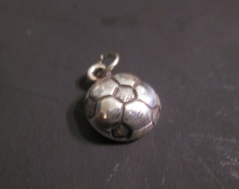 Sterling Silver Soccer ball charm or pendant
