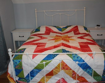 King Star Quilt with Moda Fabrics