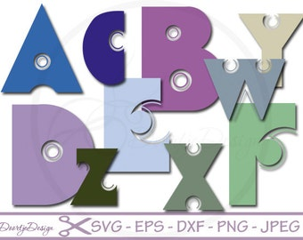 SVG Alphabet Bold, SVG Fonts Bold, cutting files, Alphabet cutouts Dxf, Letters cut files, silhouette, svg files for cricut