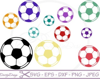 Soccer vector SVG files, soccer cutting files, clipart soccer, silhouette files, svg files for cricut, vinyl cut, Scrapbook papers