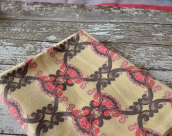 Pink/Brown receiving blanket
