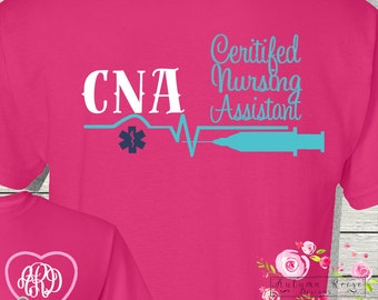 CNA Certified Nursing Assistant Monogrammed Personalized Custom Medical Assistant