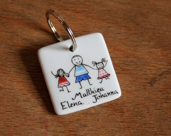 Gift dad day fathers Keyring