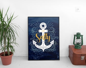 Stay Salty - typographic print