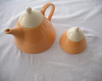 Teapot and sugar bowl Yellow Sun