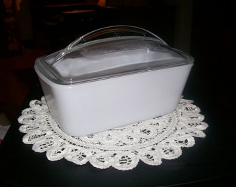 A Vintage Westinghouse Covered Glass Refrigerator Dish
