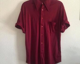 1950s large casual nylon shirt
