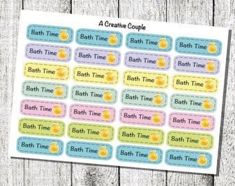 Bath Time Planner Stickers
