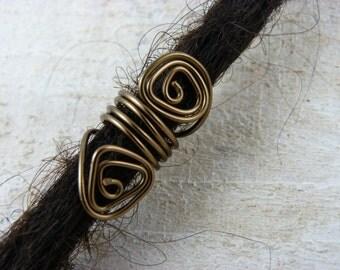 """Dreadbead """"Grazy"""" dread dreads jewelry jewelry bronze wire"""