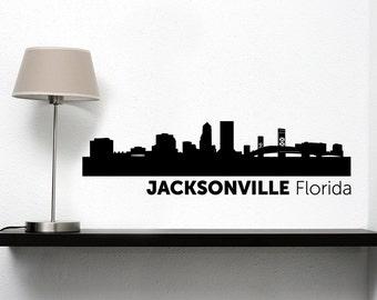 Jacksonville City Skyline Vinyl Decal