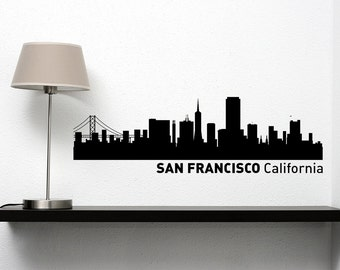 Vinyl Decal of The San Francisco Skyline