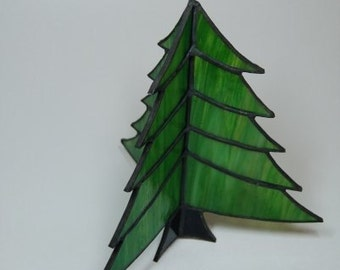3D Stained Glass Christmas Tree