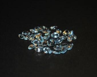 3 x 5 (0.23) Light Blue Oval Shape Aquamarine Stone
