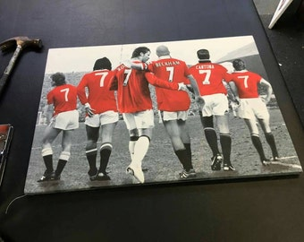 Manchester United Number 7s Canvas