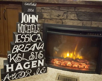 Fireplace block set