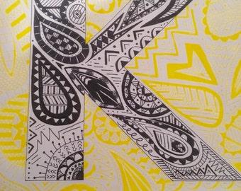 Hand Drawn Letter Art