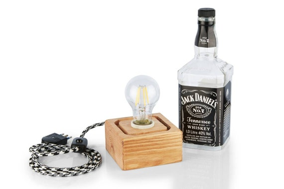 Items similar to jack daniel 39 s bottle table lamp on etsy for Table jack daniels