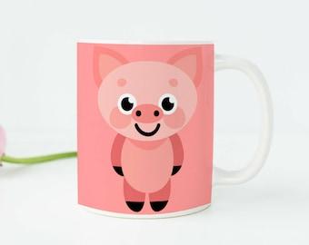 Delightful Pig Gifts Pig Kitchen Decor Pink Pig Mug Pig Cup Pig Art Pig Decor Pig Party
