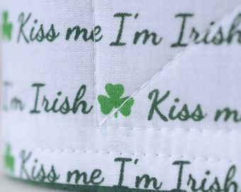 Male Dog Belly band - dog diaper - Potty training aid - house breaking - Kiss Me I'm Irish - St. Patrick's Day - Ready to ship - ON SALE