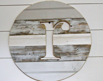 "19"" custom initial letter round"