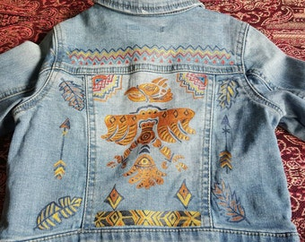 Denim jacket. Tribal Indian