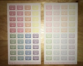 Reading / Book Lils Personal Pocket Planner Stickers in Bold or Pastel Raindow Colors for Erin Condren, Kate Spade, Filofax, Kikki K