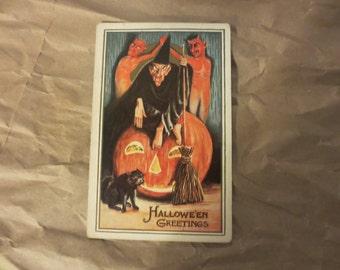 Halloween Postcard 1912