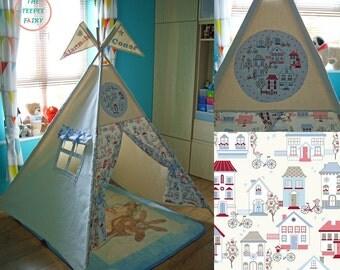 Teepee, Kids Teepee Tent, Tipi, Personalised Teepee, City Teepee, Teepee Play Tent, Tepee, Large Teepee, Wigwam, 100% Cotton Canvas