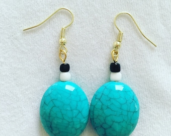 Turquoise drop earrings