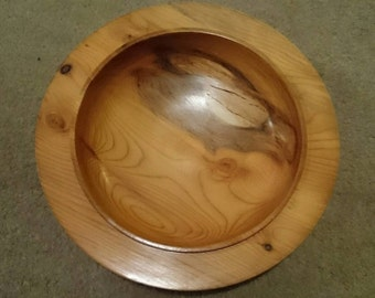 Hand turned English Yew bowl