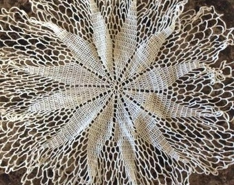 12 Inch Vintage Crocheted Doily