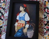 Gift Ideas,Art,Oil Painting,Harlamoff, Alexevich Harlamoff,A Pretty Peasant Girl,Reproduction by Carol Lytle,Prints,Giclee,Masters,Wall Art