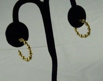 14k Gold Loop Earrings (for pierced) (b3)