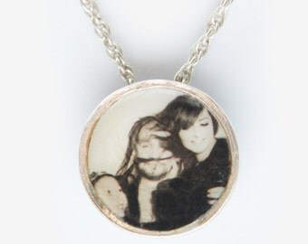 Personalised Sterling Silver Photo Necklace