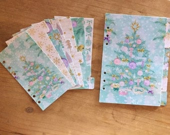 Christmas dividers / personal  A5 planner / planner supplies / planner accessories / dashboard / pocket planner / holidays / happy planner