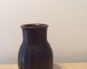 Handmade Hjort Pottery vase from Bornholm DK