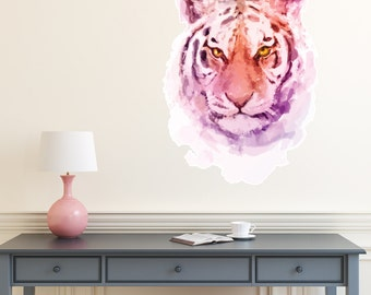 Tiger Watercolour Wall Decal PC0230