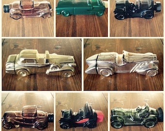 Vintage Classic Cologne Glass Bottle Cars by Avon