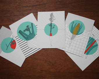 Postcards SET vegetables
